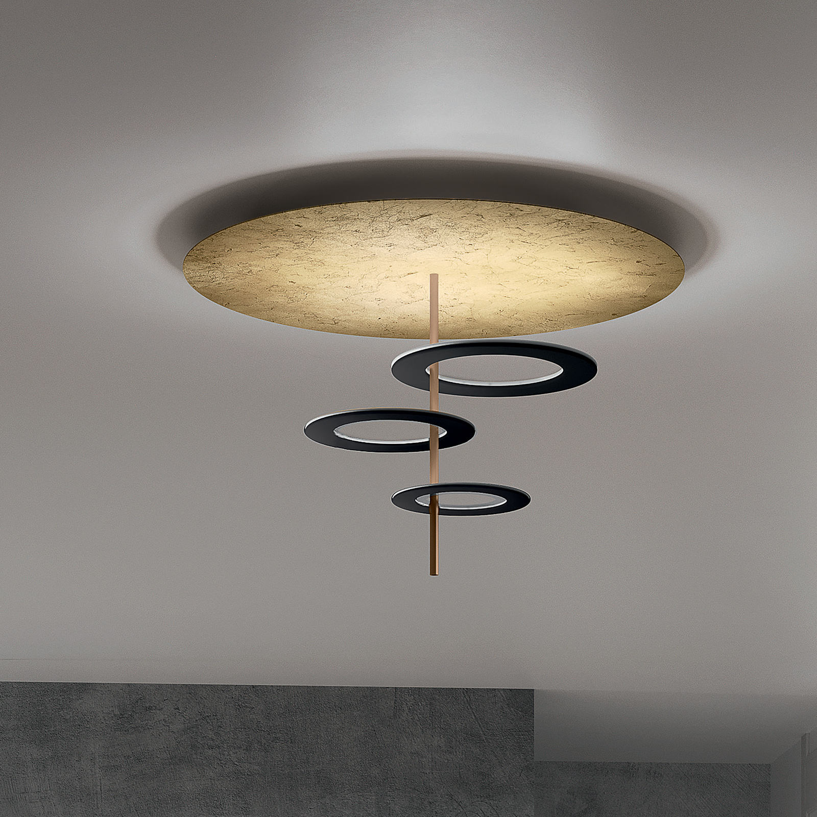 ICONE-LED-kattovalaisin Hula Hoop P3 - 3 levyllä