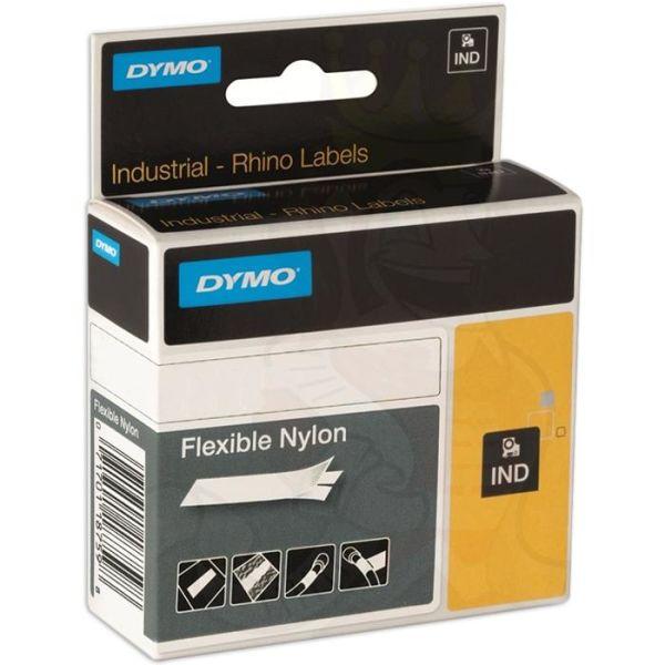 DYMO Rhino Teip fleksibel nylon 12mm Svart på hvitt