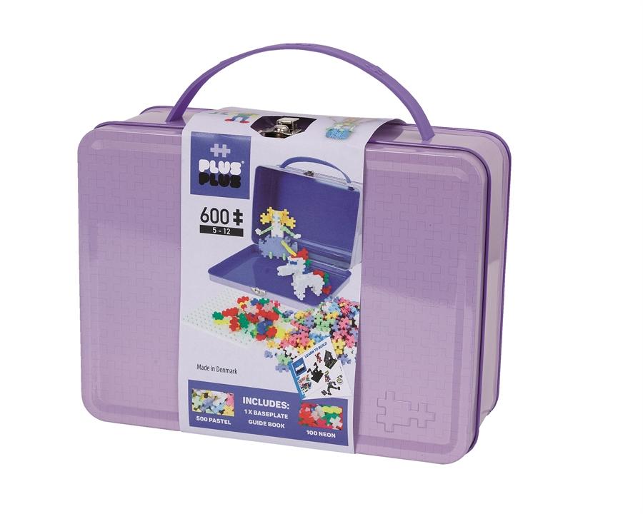 Plus Plus - Mini Pastel - Suitcase Metal Purple, 600 pc (7003)