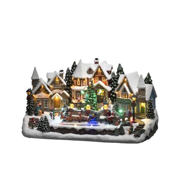 Konstsmide 4234-000 Dekorasjonsbelysning liten by med flere små hus