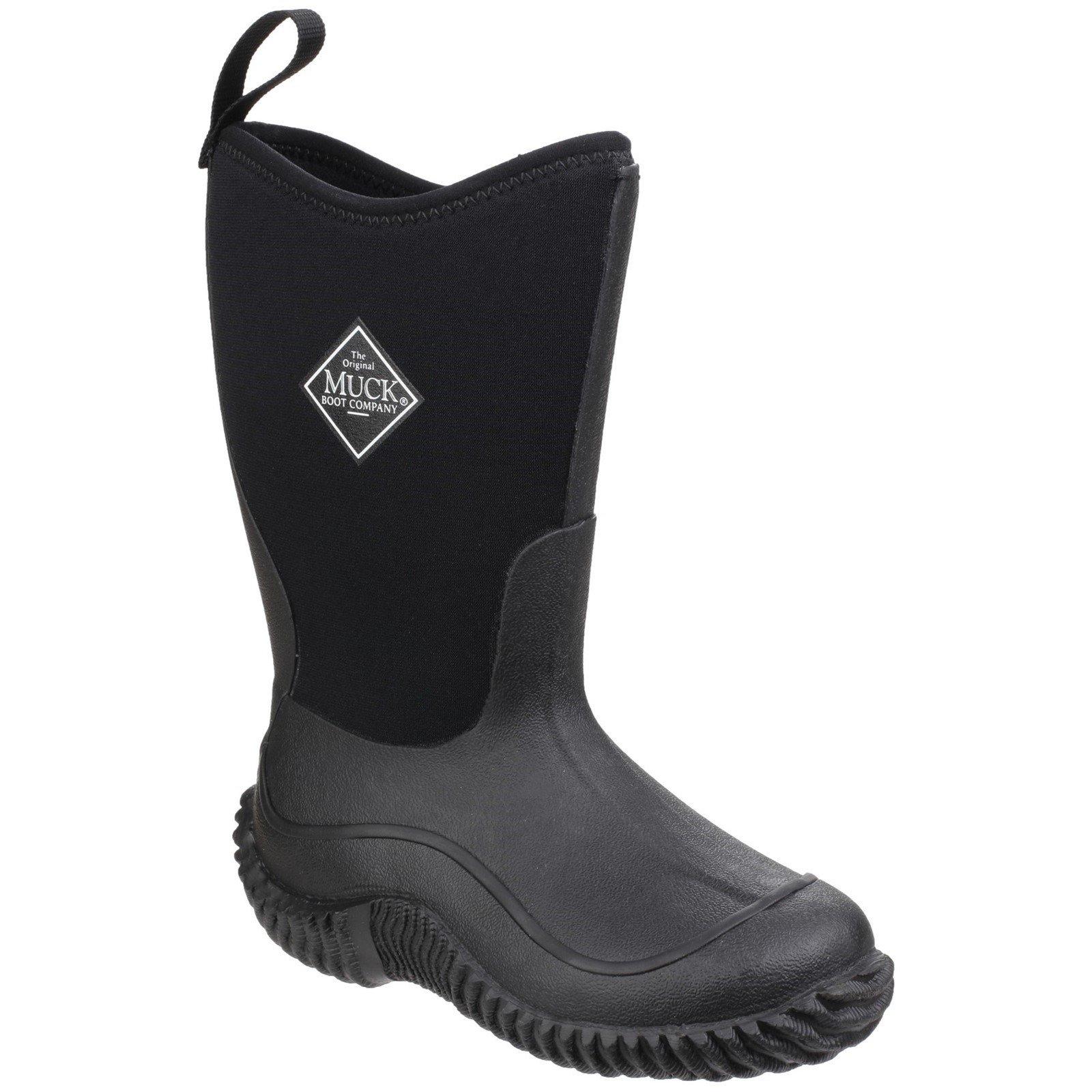 Muck Boots Kid's Hale Pull On Wellington Boot Black 24844 - Black 6