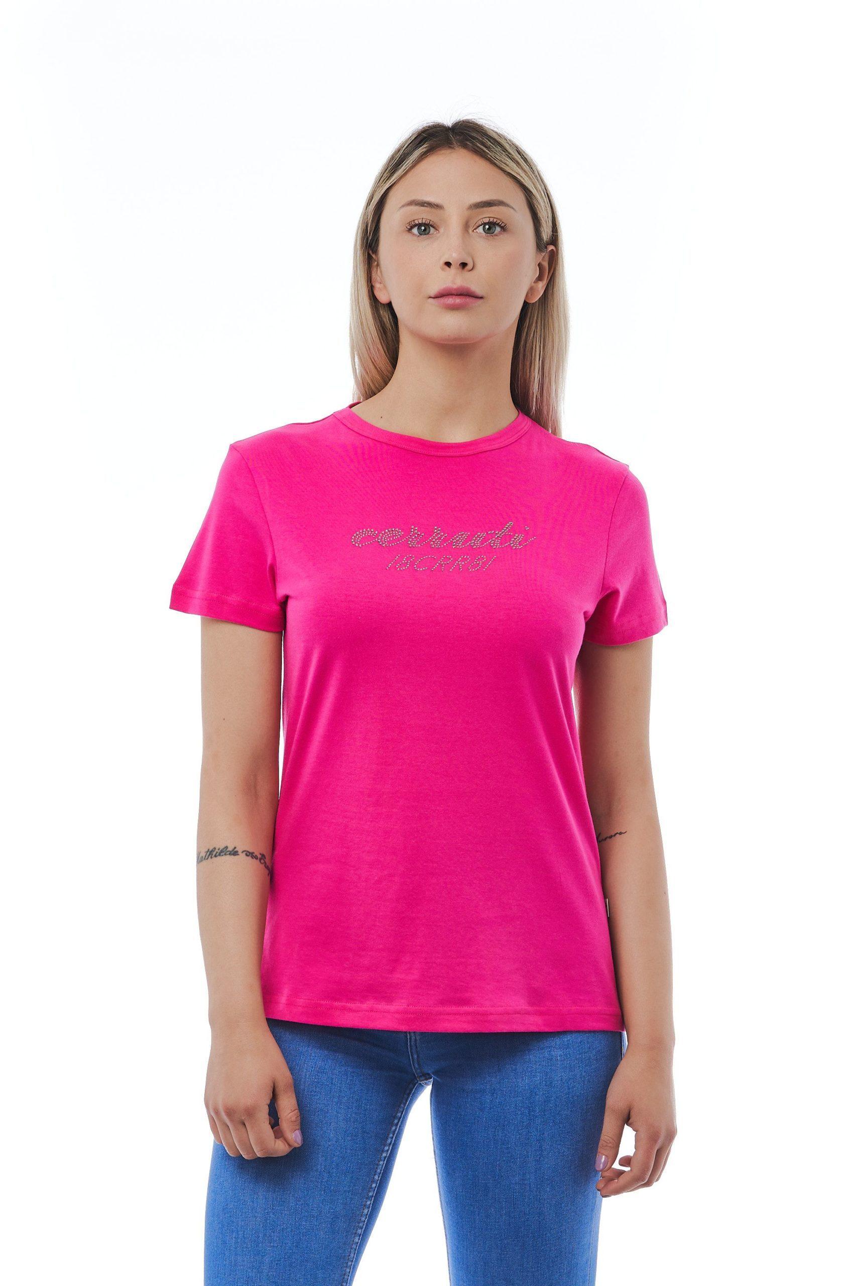 Cerruti 1881 Women's Fuxia T-Shirt Red CE1410207 - M
