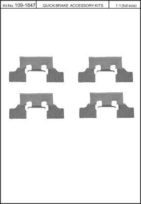 Tarvikesarja, jarrupala KAWE 109-1647