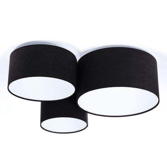 Kattovalaisin 080, 3-lamp., musta-valkoinen