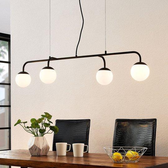 Lucande Rama -LED-riippuvalaisin lasivarjostimilla