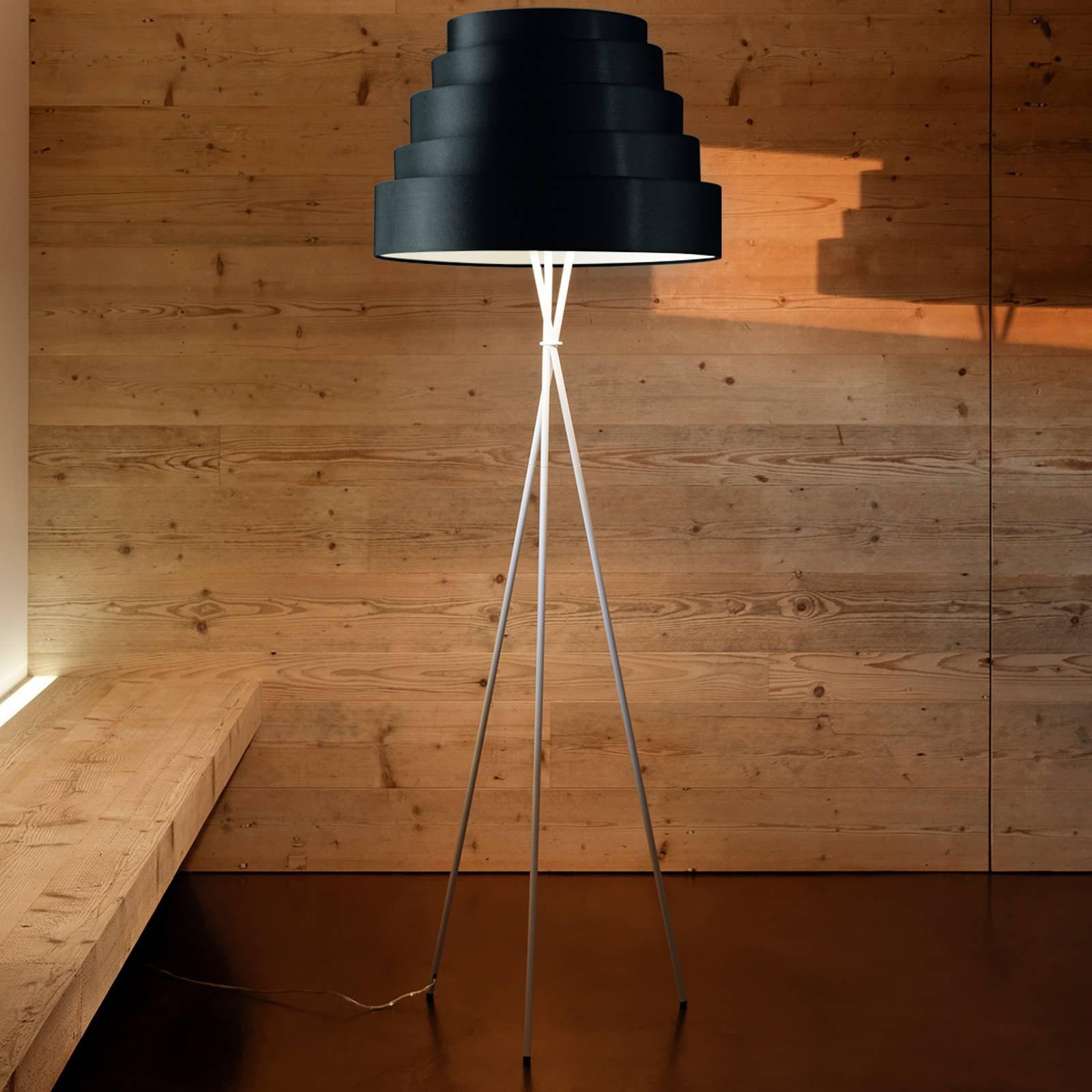 Babel - vakker stålampe på stativ, svart