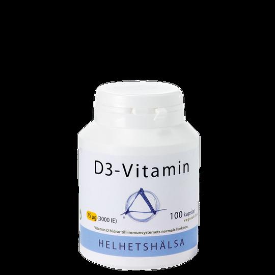 D3-vitamin, 3000IE (75 mcg), 100 kapslar