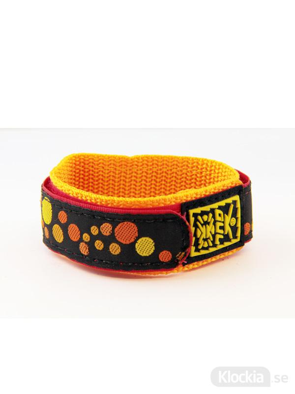 GUL Armband Velcro Bubbles Black Yellow 18mm - 20mm 439519