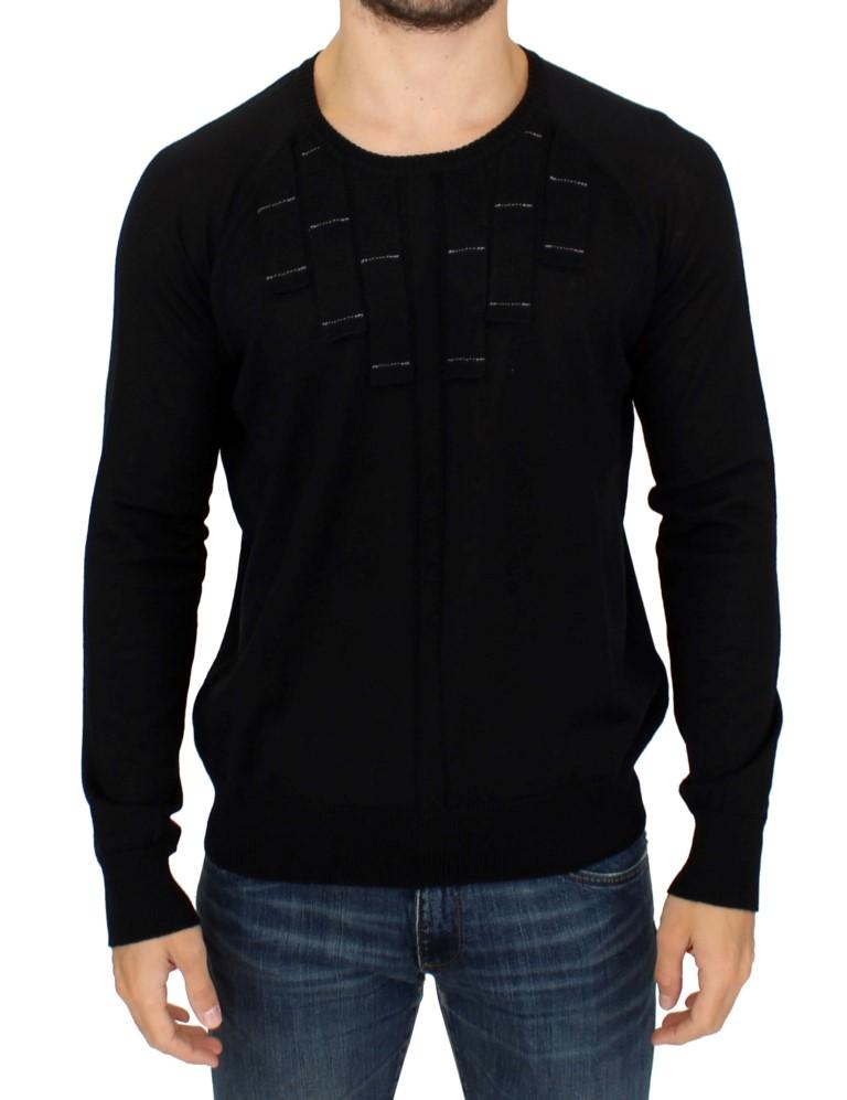 Karl Lagerfeld Men's Crew Neck Sweater Black SIG10547 - XL