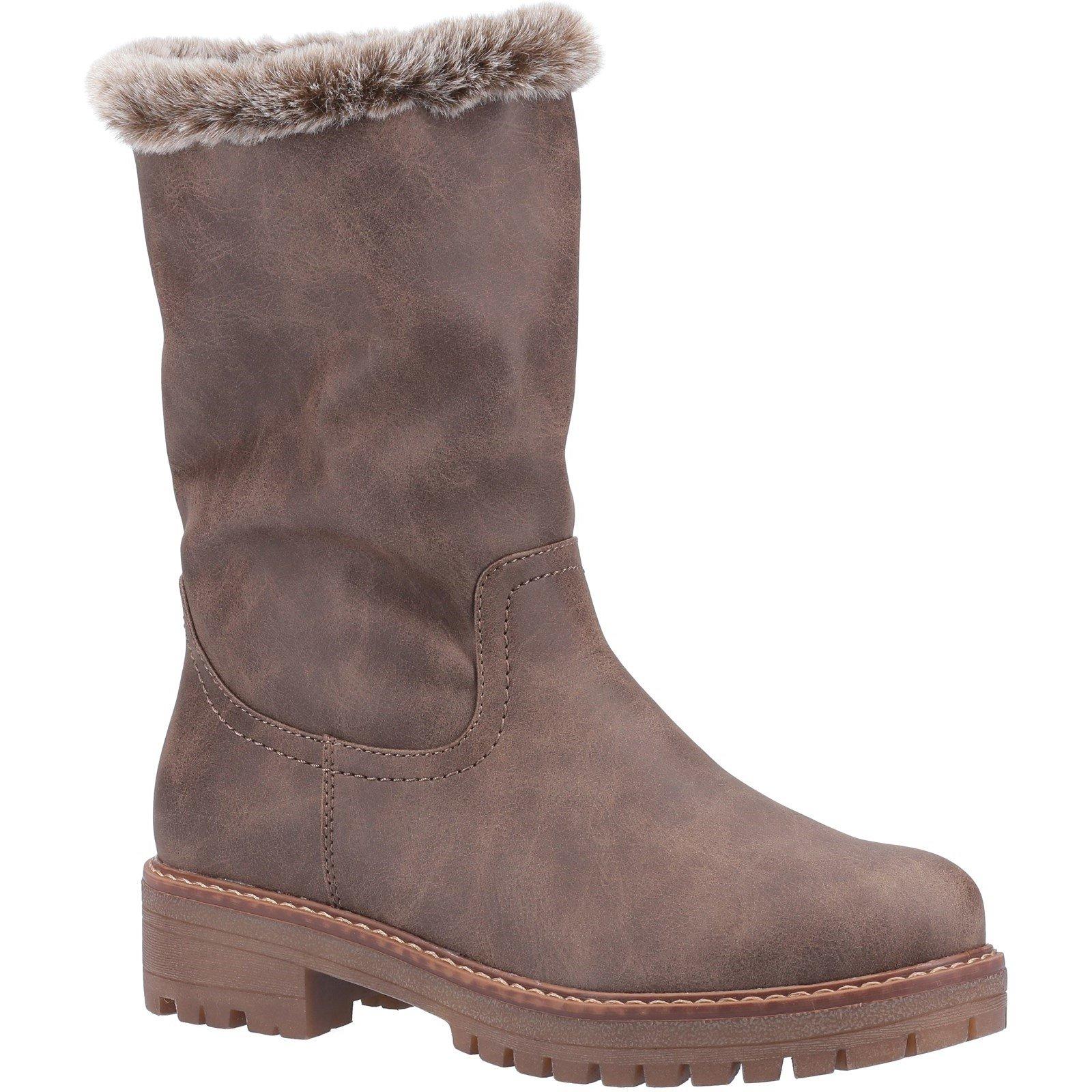 Divaz Women's Nadia Fur Lined Boot Various Colours 33025 - Brown 3