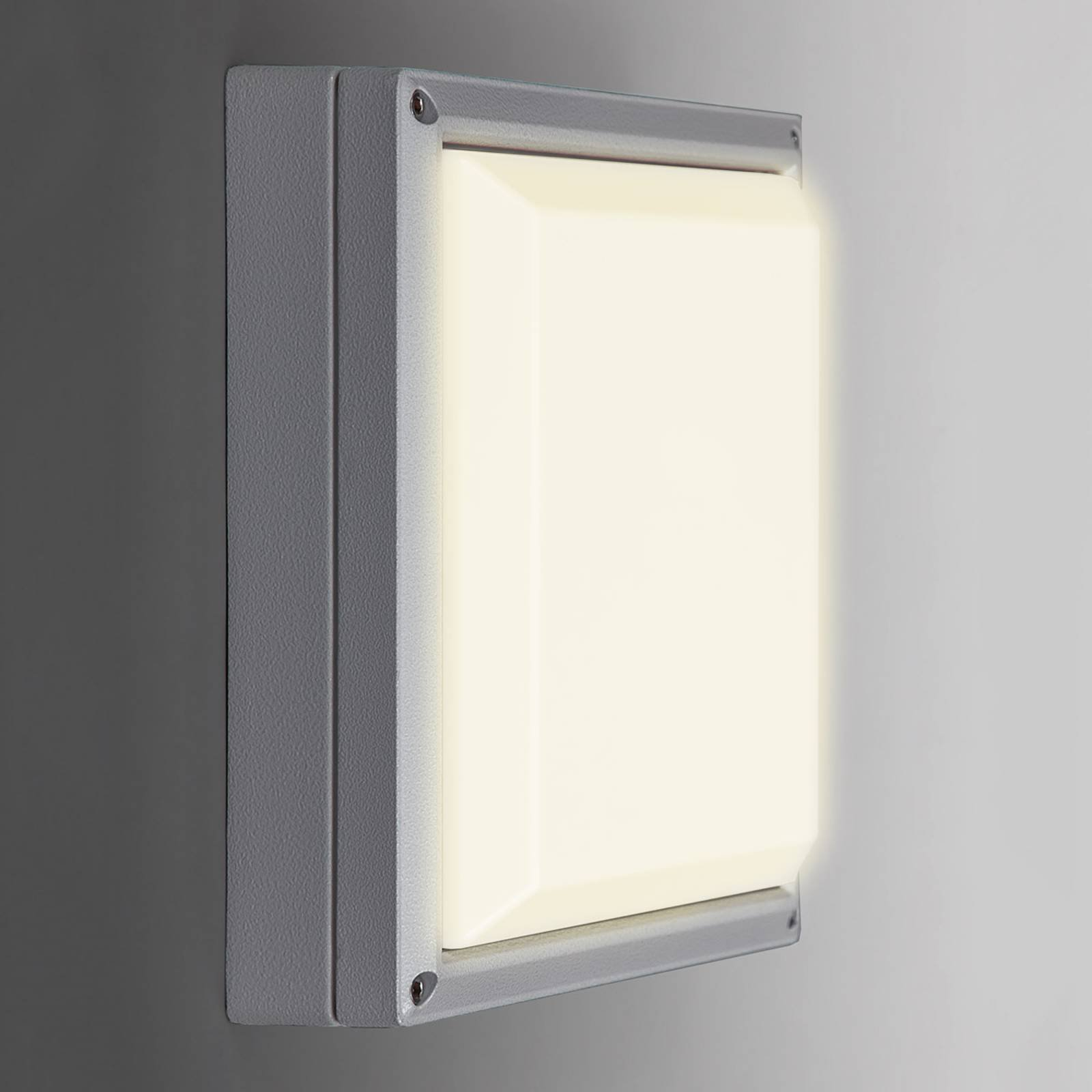 SUN 11 LED-vegglampe i lysegrått med 13 W og 3 K