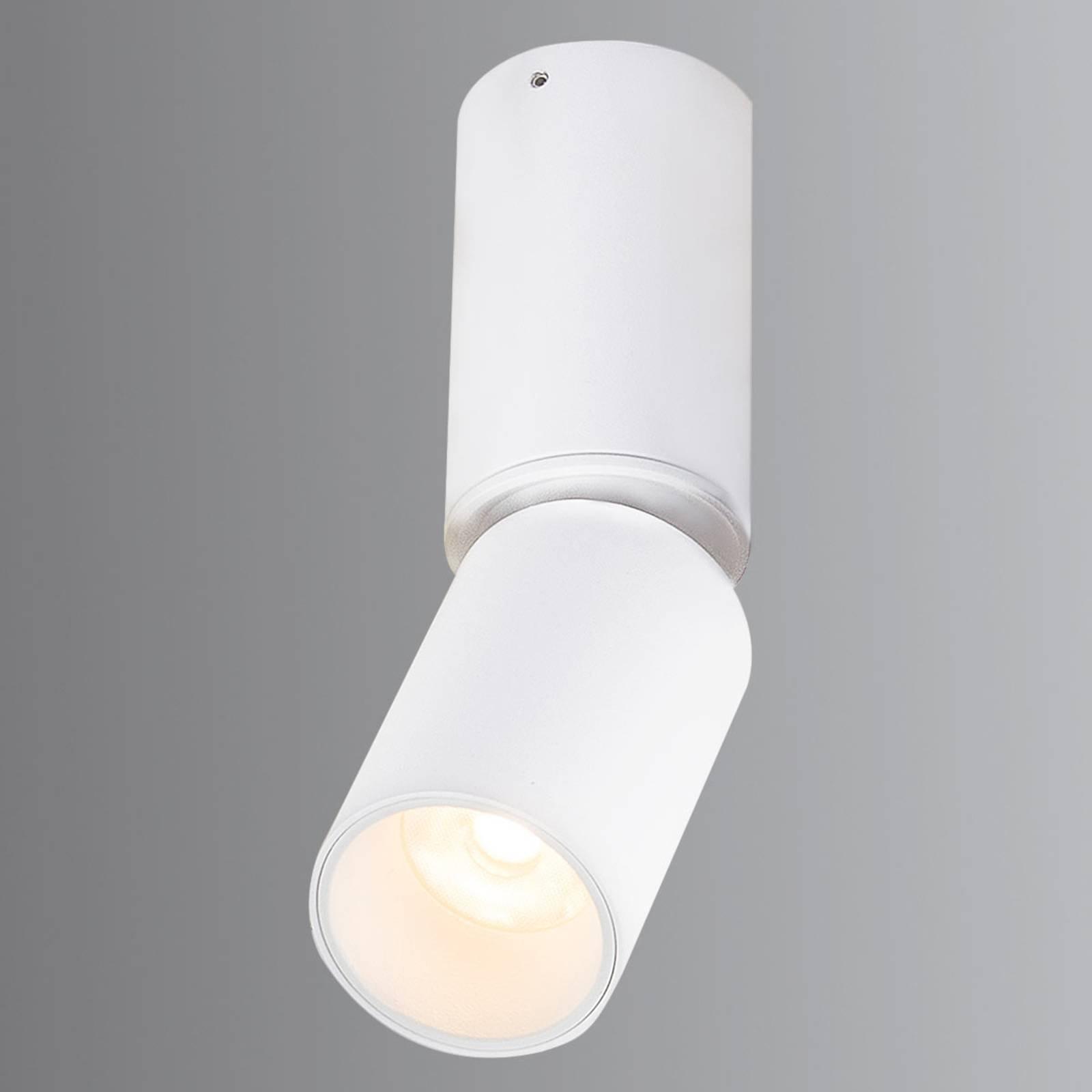 Bevegelig LED-takspot Luwin i aluminium