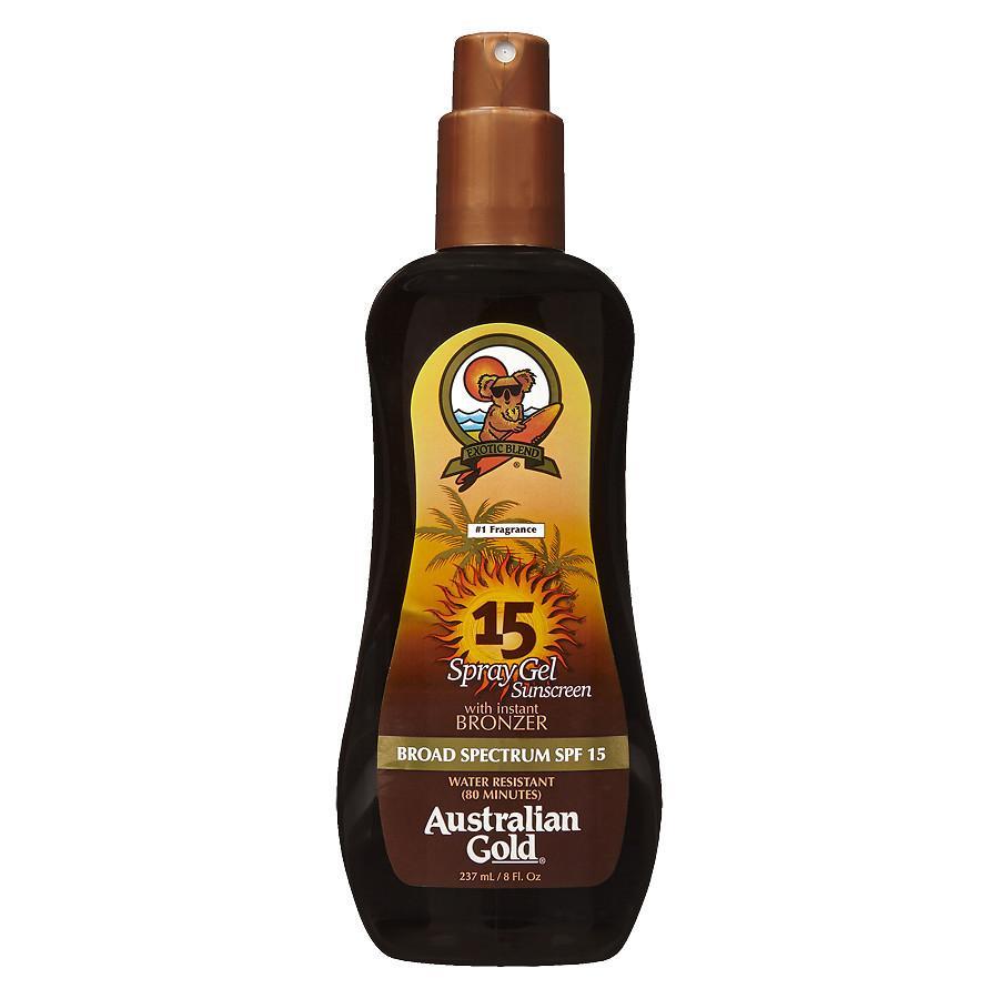 Australian Gold - Sunscreen Spray Gel w. Instant Bronzer 237 ml - SPF 15