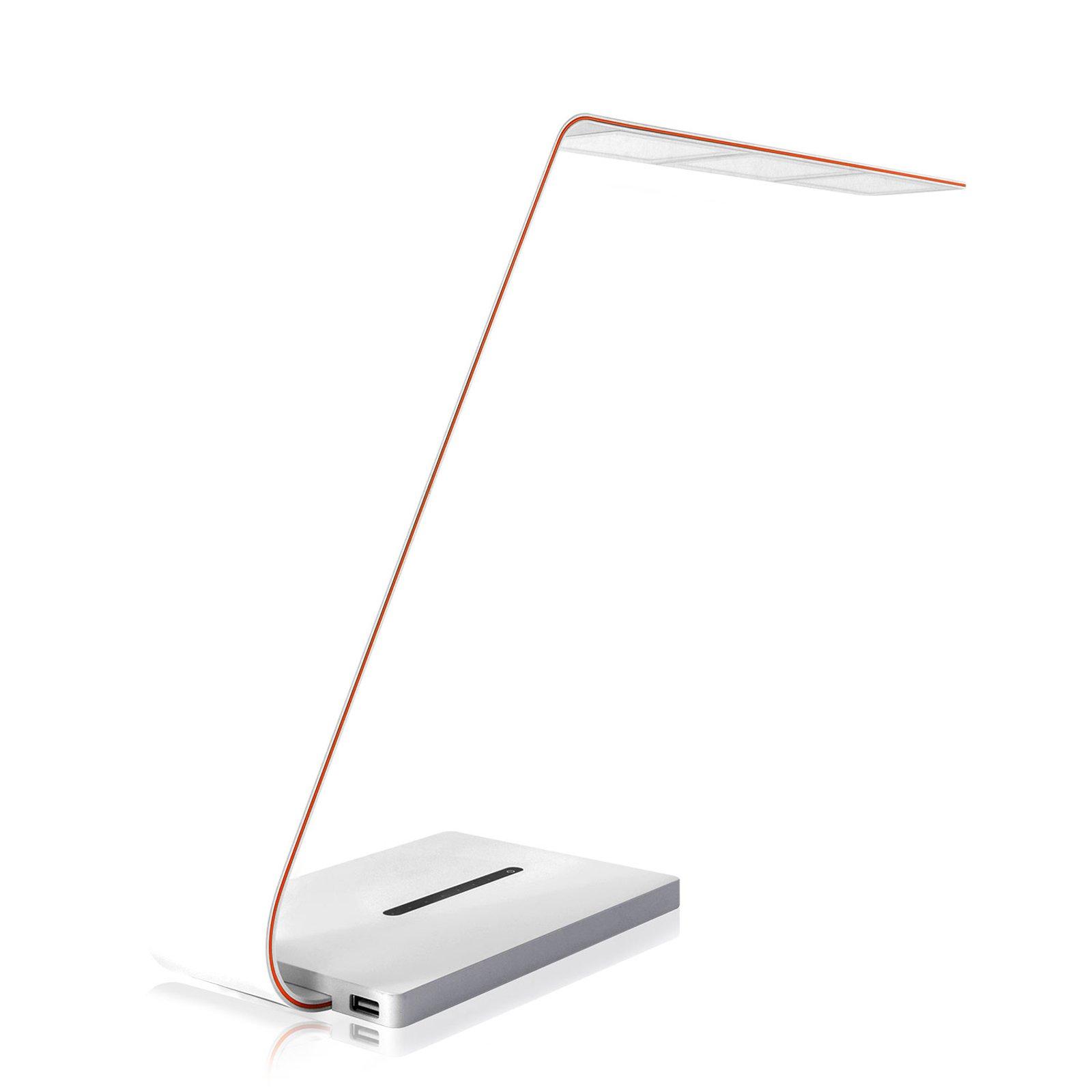 TRAE Jade OLED-skrivebordslampe, Qi, hvit