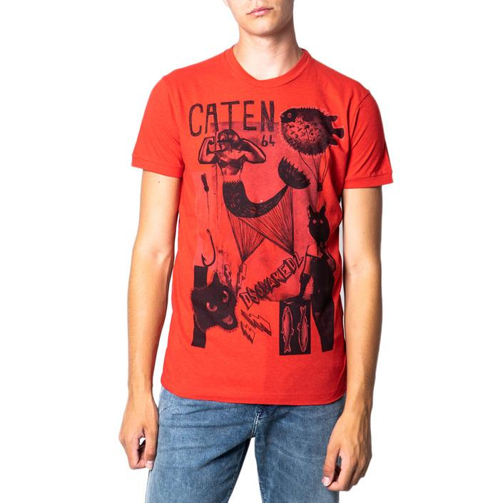 Dsquared Men's T-Shirt Light Red 175459 - red M