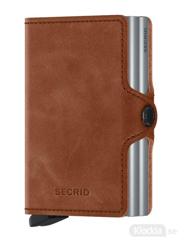 Plånbok SECRID Twinwallet Vintage Cognac-Silver
