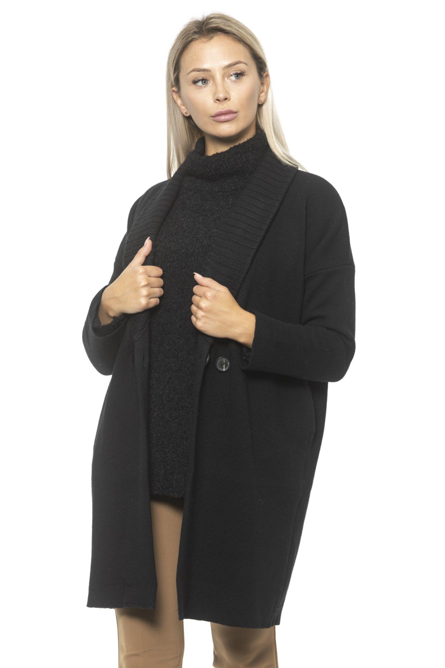 Alpha Studio Women's Nero Coat Black AL1314621 - IT42 | S