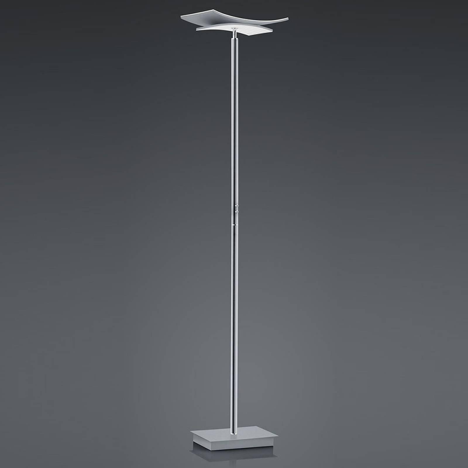 B-Leuchten Liberty LED-gulvlampe, matt nikkel