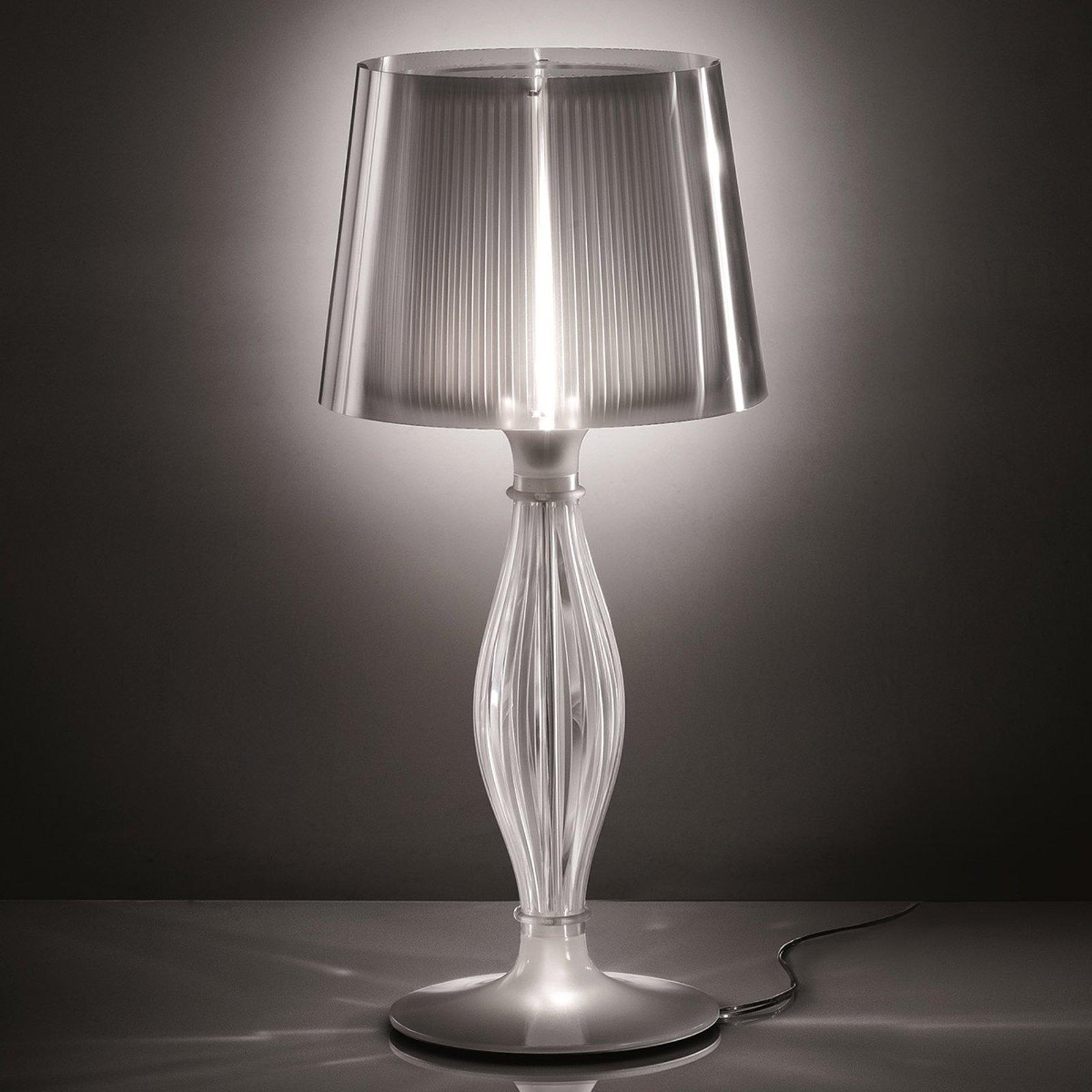 Transparent bordlampe Liza