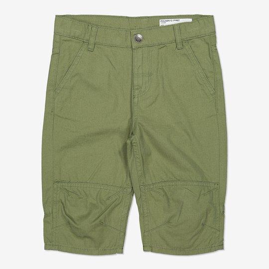 Ensfarget shorts grønn