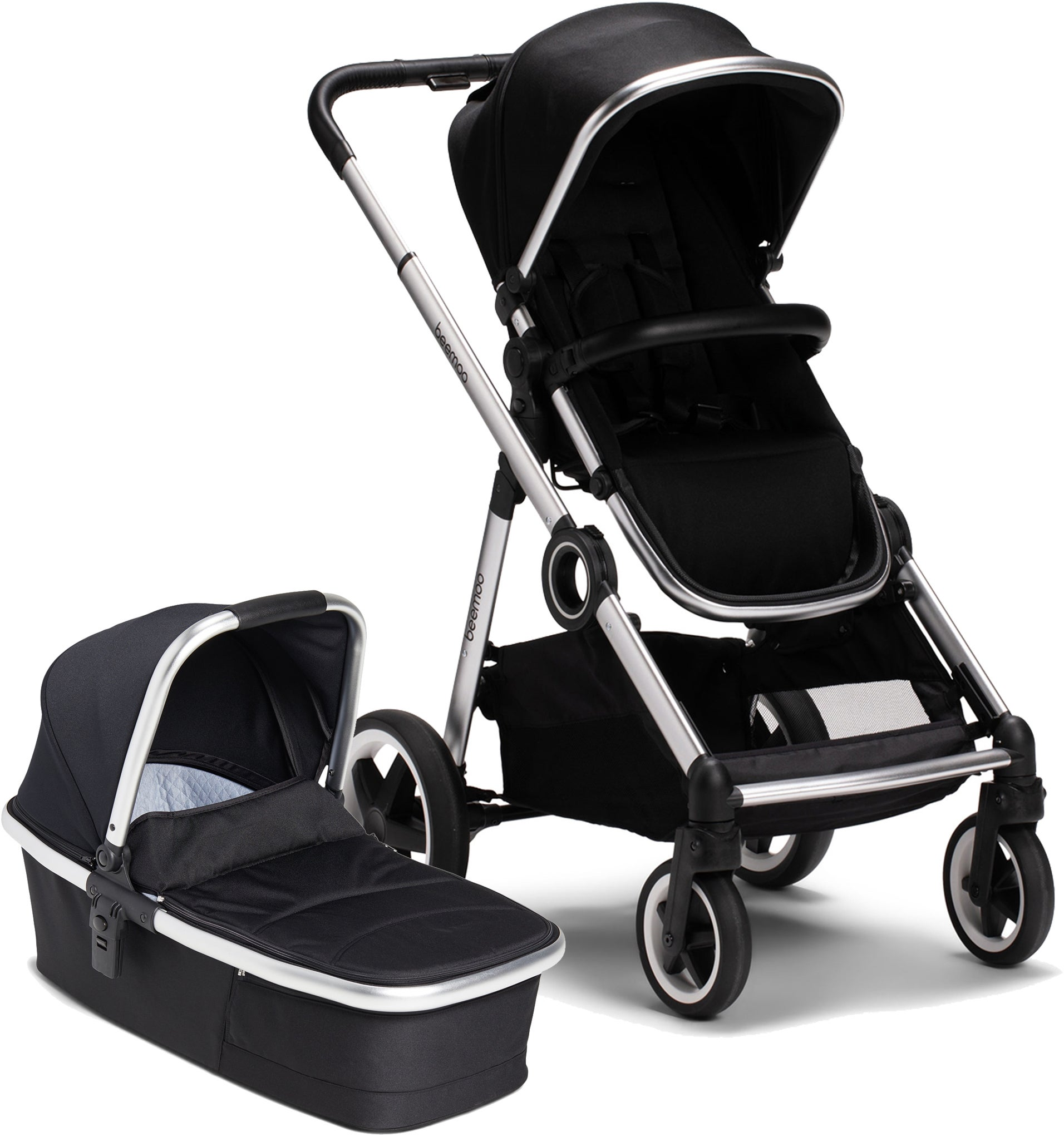 Beemoo Twin Travel+ 2020 Duovagn, Black