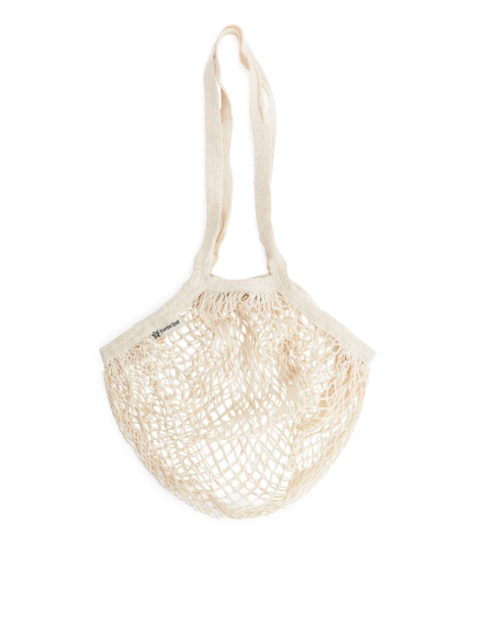 Turtle Bags Organic Long Handled String Bag - Beige