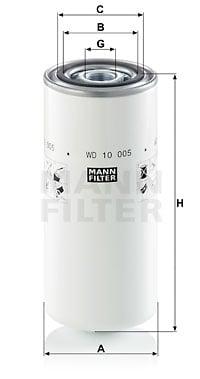 Suodatin, työhydrauliikka MANN-FILTER WD 10 005