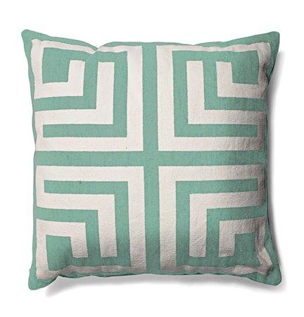 Labyrinth pute 50x50 – Greyed jade