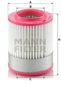 Ilmansuodatin MANN-FILTER C 1652/1