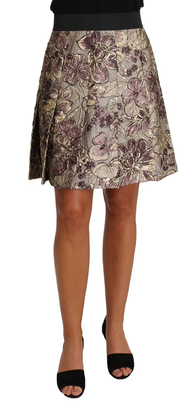 Dolce & Gabbana Women's A-Line Mini Floral Print Skirt Multicolor SKI1148 - IT42|M