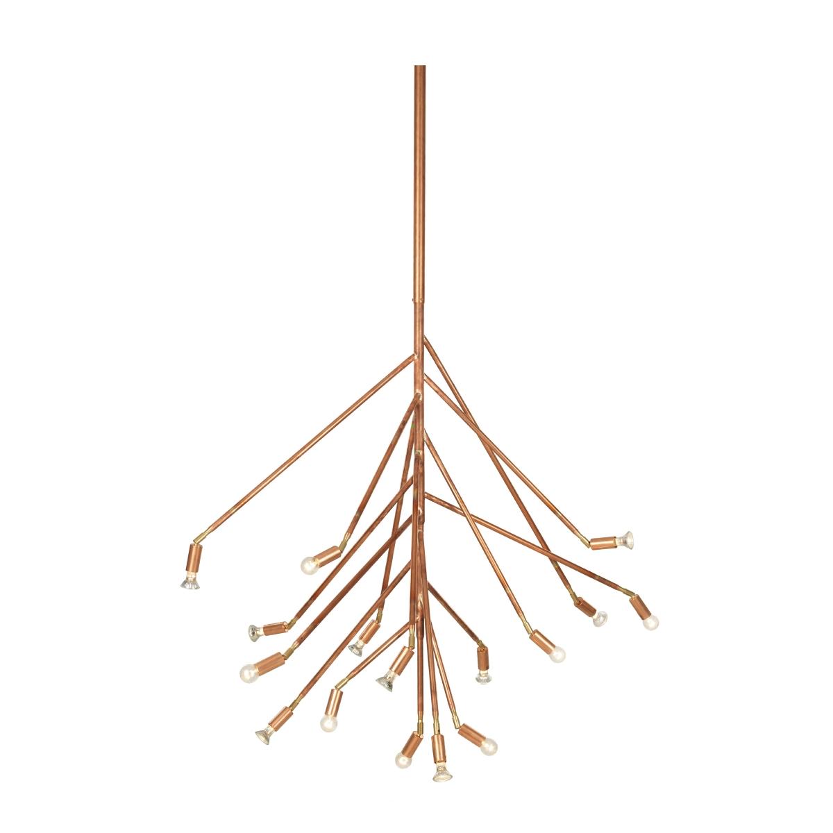 Kvist 16 armar rå koppar Örsjö Belysning
