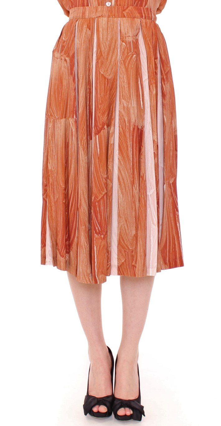 Licia Florio Women's Knee Full Skirt Orange MOM10106 - IT44|L