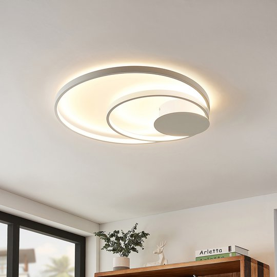 Lindby Nerwin LED-taklampe, rund, hvit