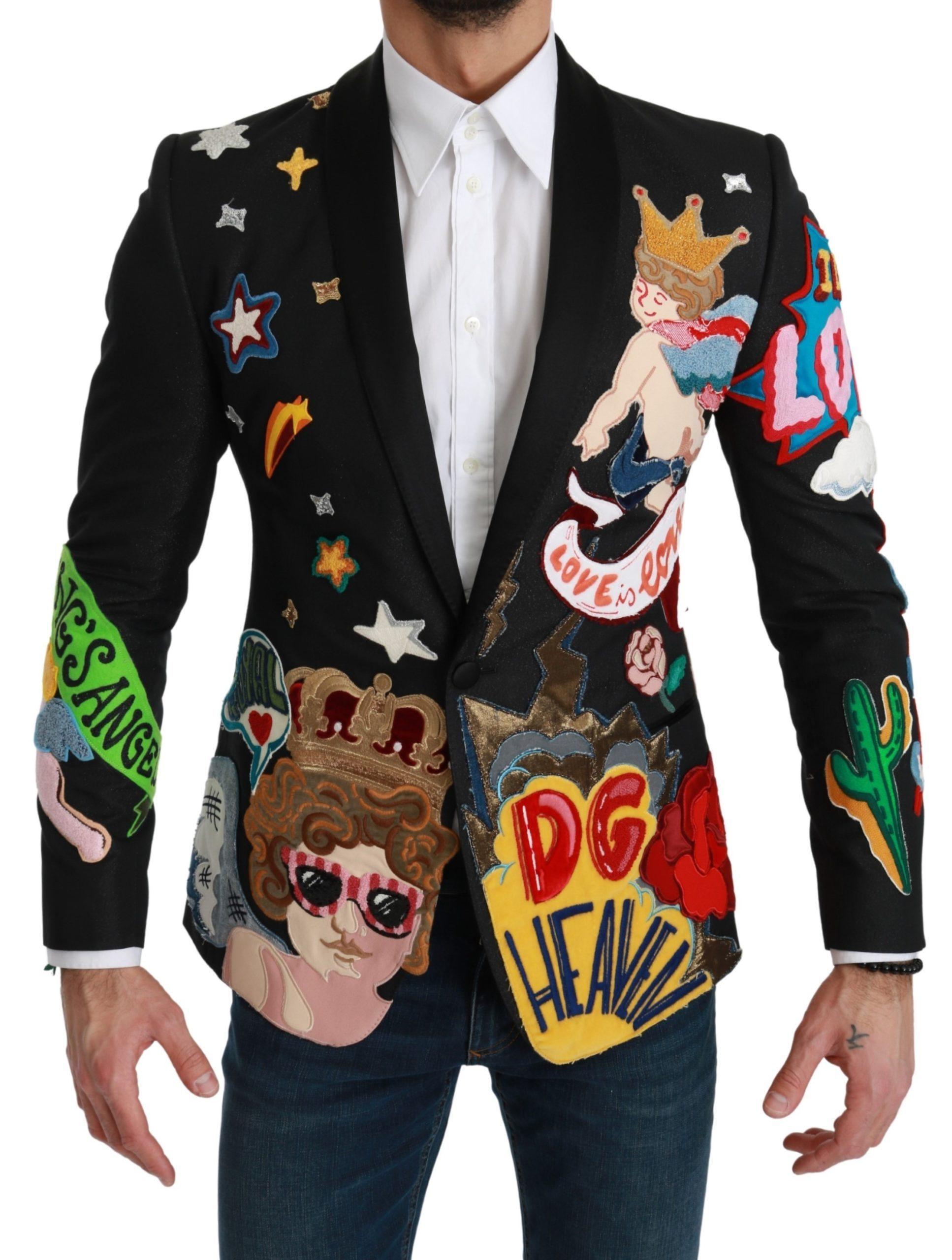 Dolce & Gabbana Men's Heaven King MARTINI Blazer Black KOS1784 - IT44 | XS