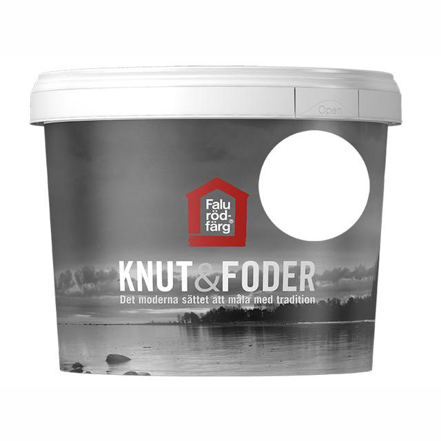 FALU RÖDFÄRG KNUT&FODER VIT 1L