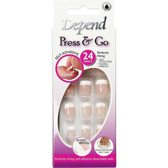 Depend Press & Go Adhesive Fake Nails 6091 - Lyhyt Malli, Depend Irtokynnet