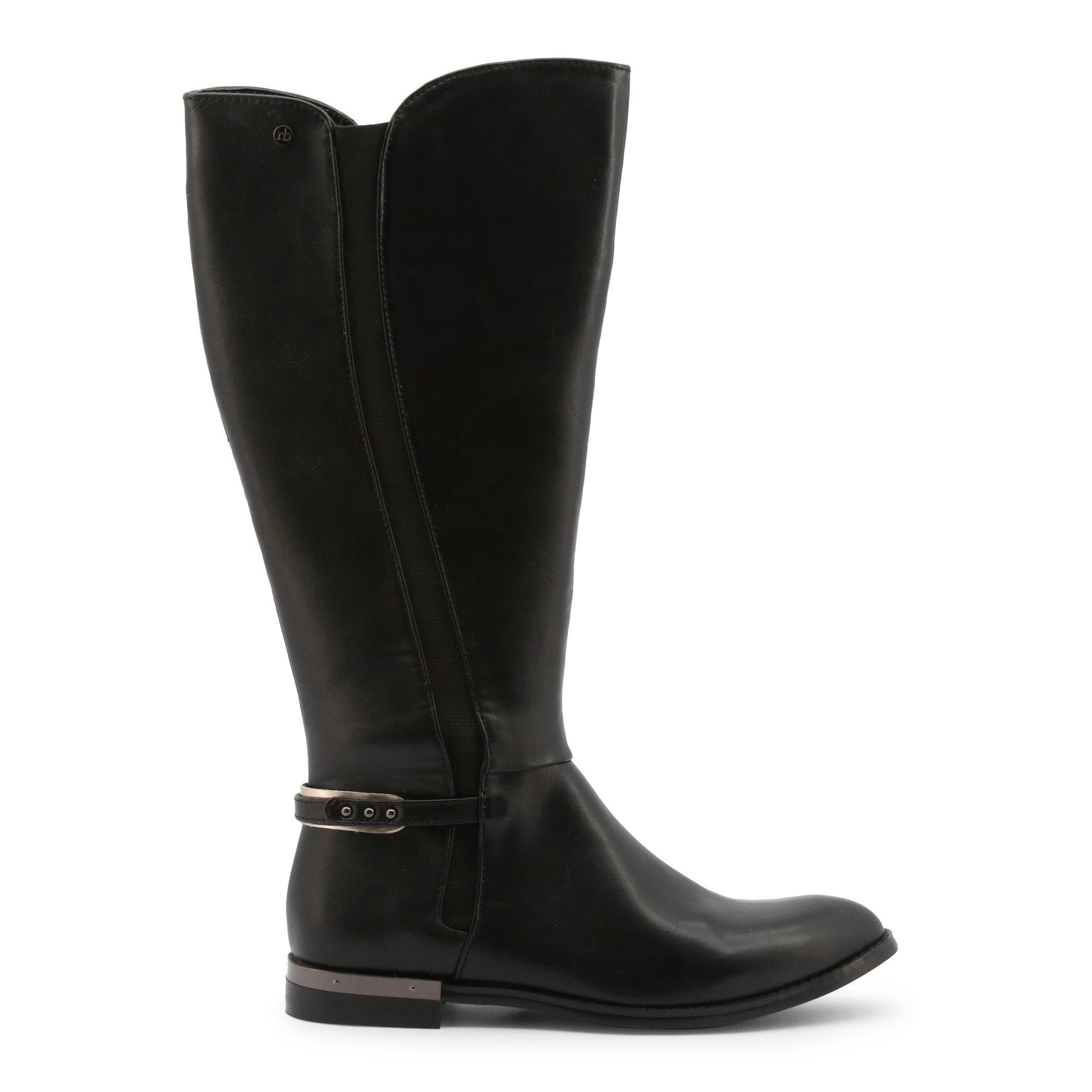 Roccobarocco Women's Boot Black RBSC0U104 - black-1 EU 36