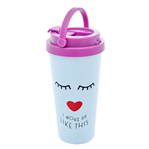 Rice - Stainless Steel Cup 450 ml - Sweet Face