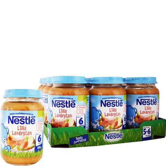 12-pack Nestlé barnmat Lilla Laxgrytan - 40% rabatt