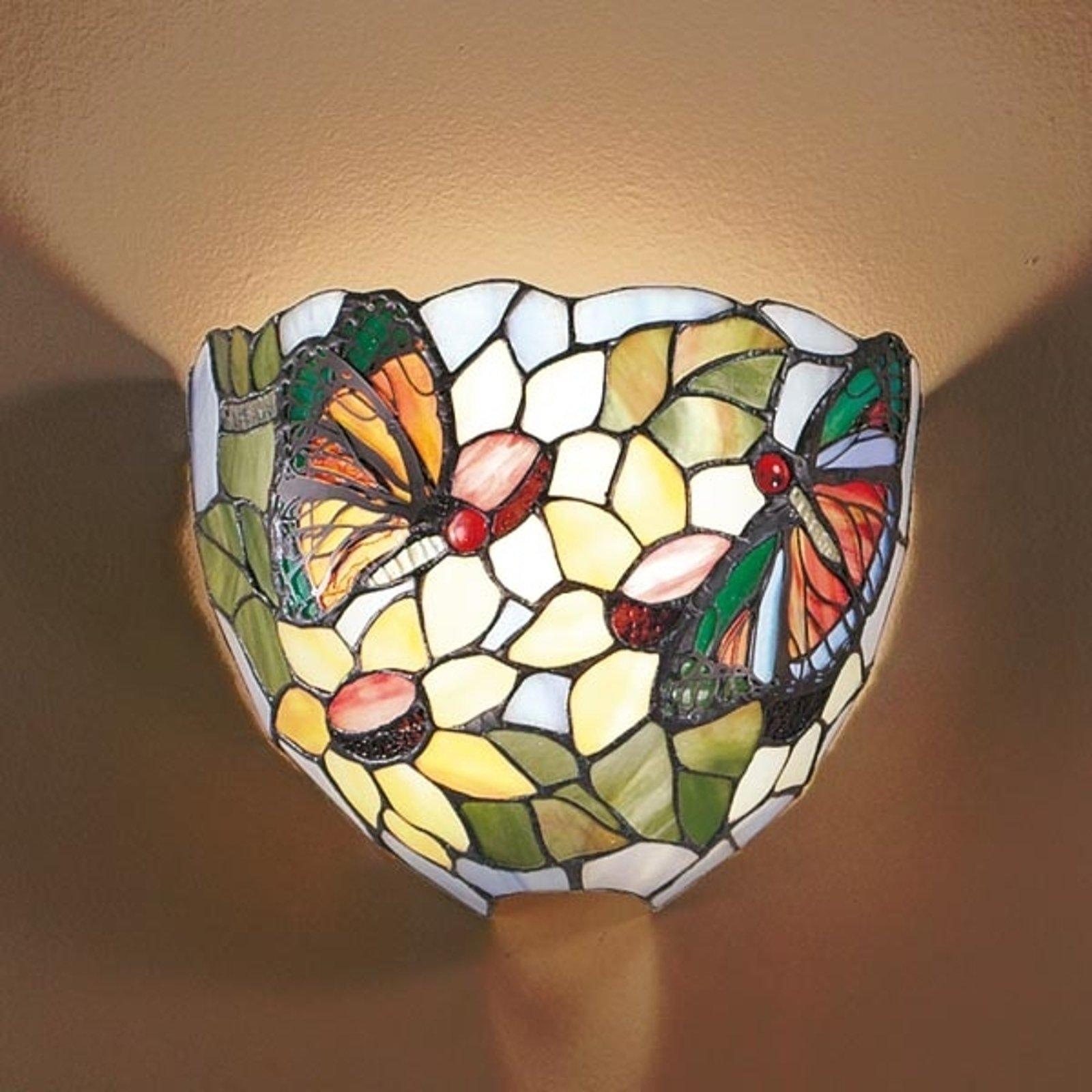 Vegglampe VIKTORIA i Tiffany-look