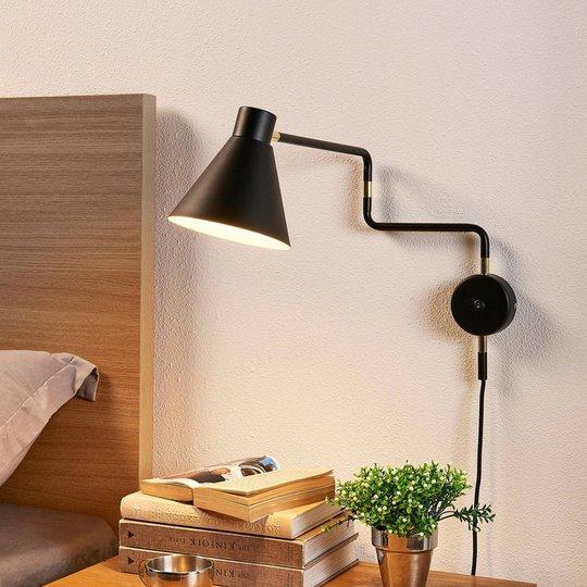 Laaja LED-seinävalaisin Pria, musta