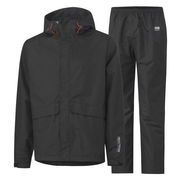 Helly Hansen Workwear Waterloo Sadeasu musta, tuulen- ja vedenpitävä XS