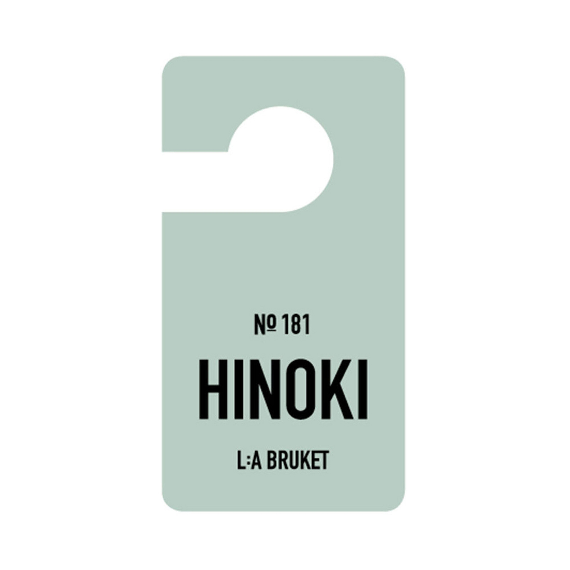 L:a Bruket Fragrance Tag Hinoki