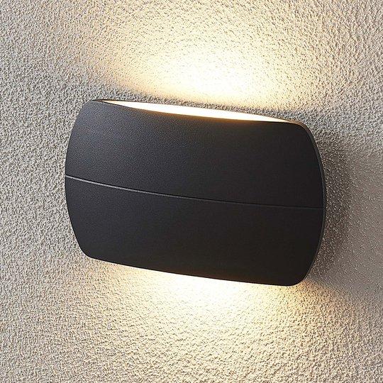 LED-ulkoseinävalaisin Viktoria, tummanharmaa