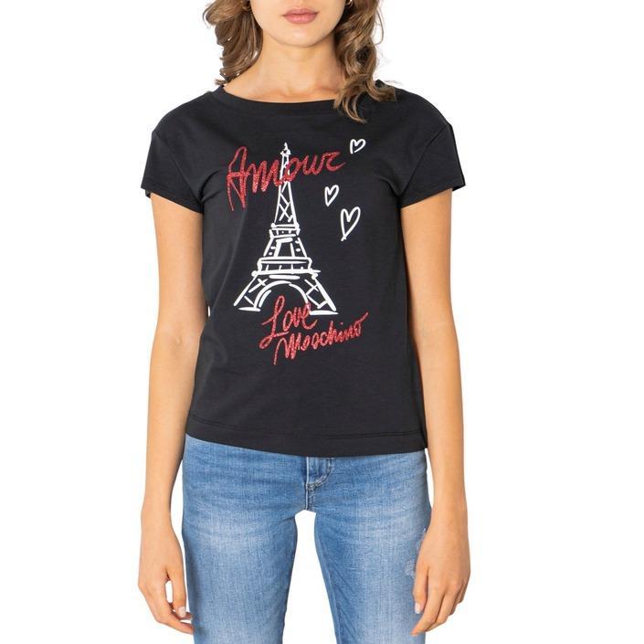 Love Moschino Women's T-Shirt Black 321620 - black 38