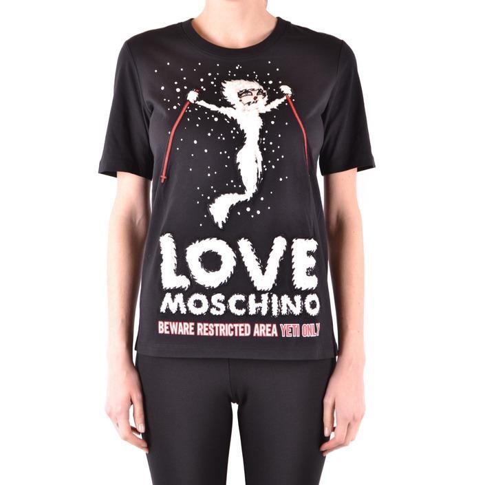 Love Moschino Women's T-Shirt Black 166577 - black 38