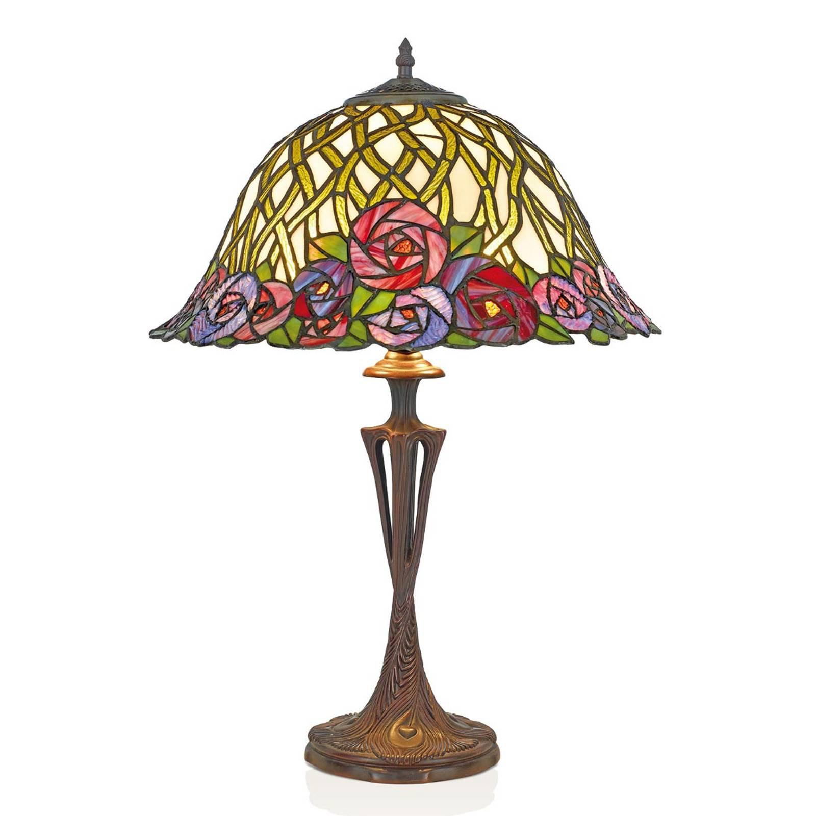 Bordlampe Melika i Tiffany-stil