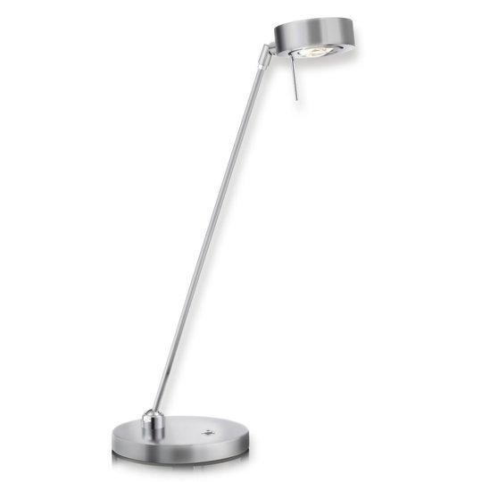 Kaksinivelinen LED-pöytävalaisin Elegance, nikkeli