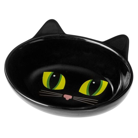Petrageous Frisky Kattskål Oval (Svart)