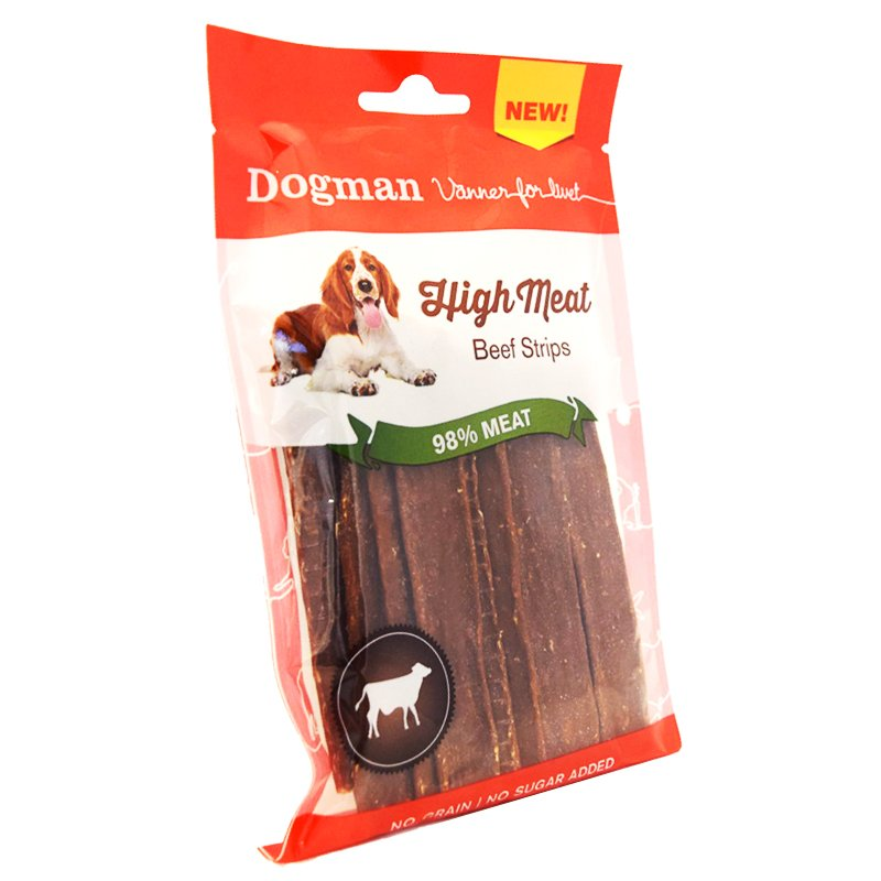 """Hundfoder """"Beef Strips"""" - 70% rabatt"""